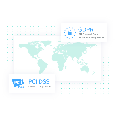An Global Map with GDPR and PCI DSS Featured